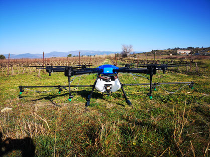 Drone d'intervention viticulture